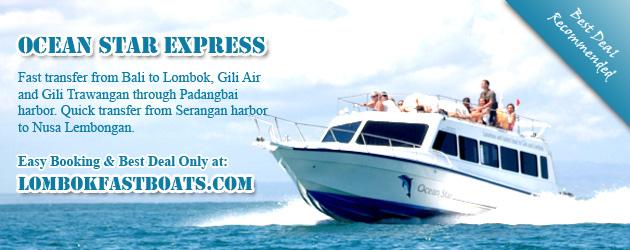 Fast boat transfer from padangbai to lombok, Gili Air and Gili Trawangan