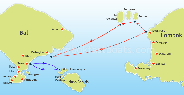 Ocean Star Route Map