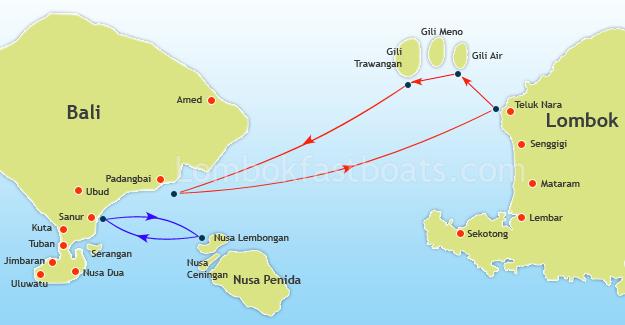 Ocean Star Route Map