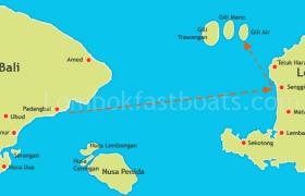 Route Map Mahi Mahi Dewata Padangbai to Gili Air