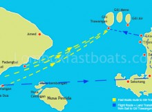Transfer Route from Bali to Gili Trawangan