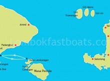 Bali to Nusa Lembongan Transfer Route